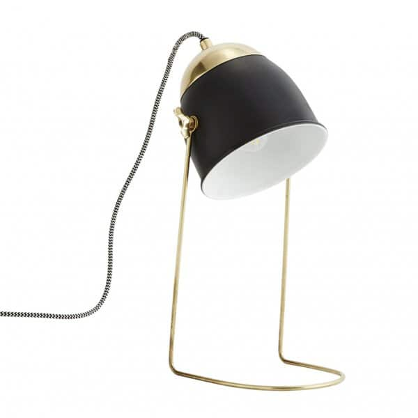 Table Lamp made from Iron and finished in Matt Black & Brass. By Madam Stoltz of Denmark