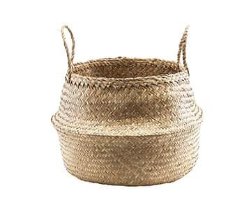 'Tanger' Basket, with handles, made from Seagrass. By House Doctor of Denmark