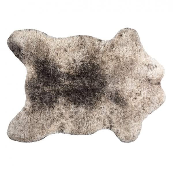 'Tapis' Rug, shaped like a giant sheepskin pelt, presented in Moon (colour). By Vivaraise of France