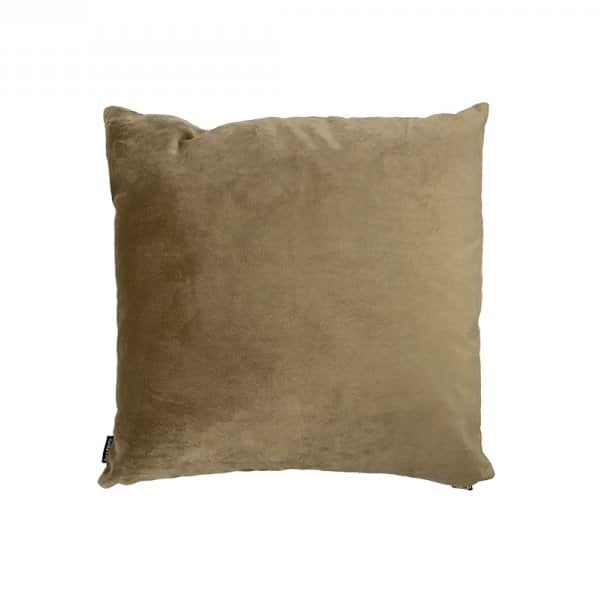 'Taupe' Cushion, made from Velvet with Duck down filling (optional). By Vanilla Fly of Denmark