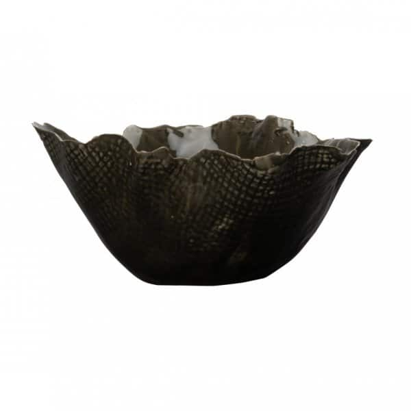 'Thalassa' Bowl, made from Stoneware, finished in Black. By ON Interiör of Sweden