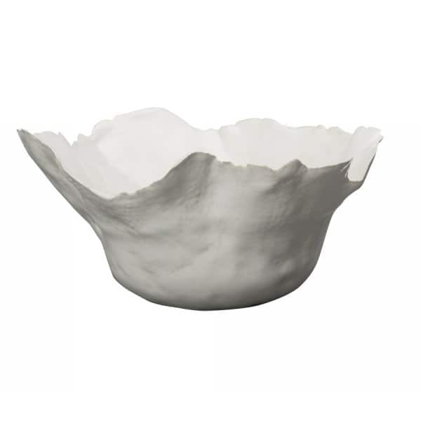 'Thalassa' Bowl, made from Stoneware, finished in White. By ON Interiör of Sweden