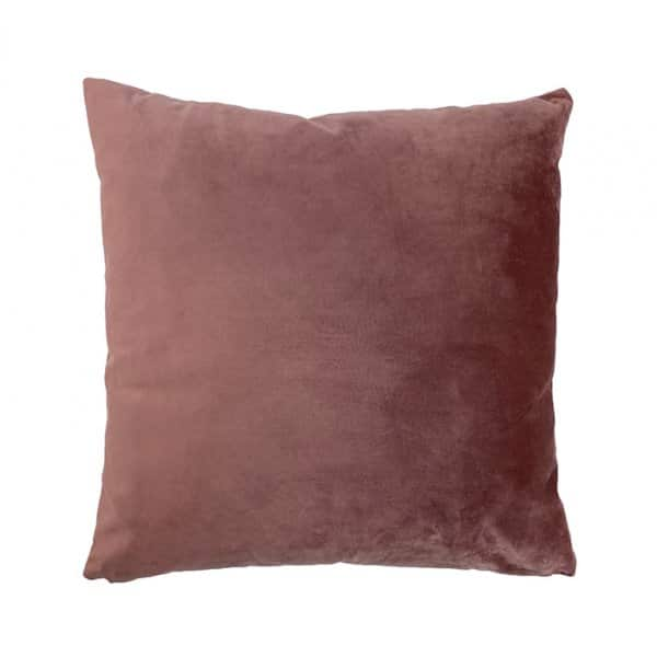 'Rhubarb' Velvet Cushion with Duck down filling (optional). By Vanilla Fly of Denmark