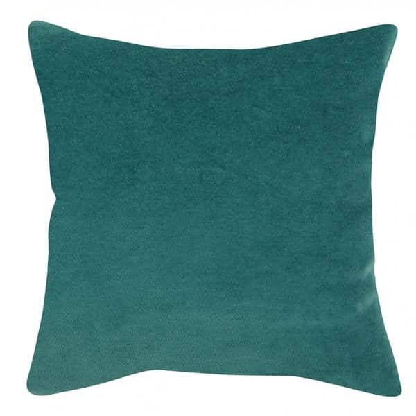'Elise' Cushion range, made from 100% Cotton Velvet , presented in Vert de gris. By Vivaraise of France