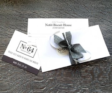 No64 Gift Voucher - You can select any amount (online they're listed in increments of £5.00), we'll make it look beautiful, personalise it for you, and send it!