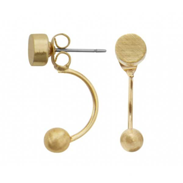 'Vanity' Balance Earrings in 14 carat Gold. By Dansk Copenhagen