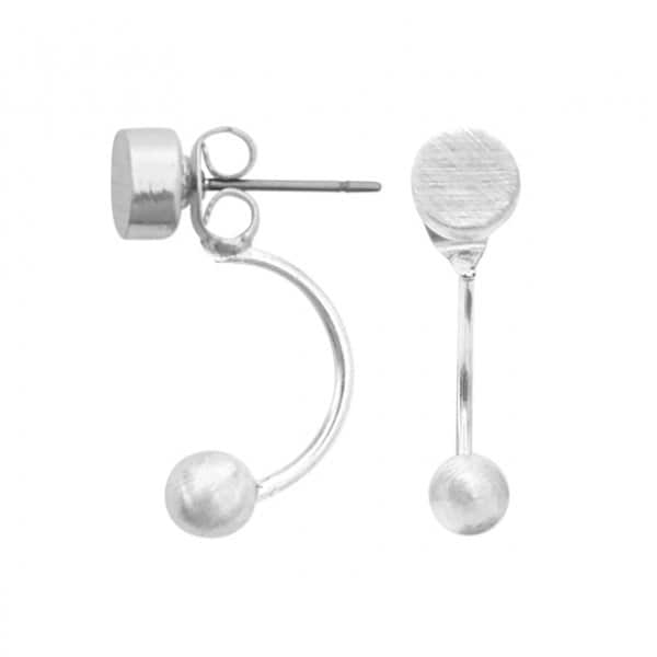 'Vanity' Balance Earrings in Silver. By Dansk Copenhagen