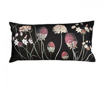 Velvet 'Alliums' Cushion, with Duck down filling (optional), by Vanilla Fly of Denmark