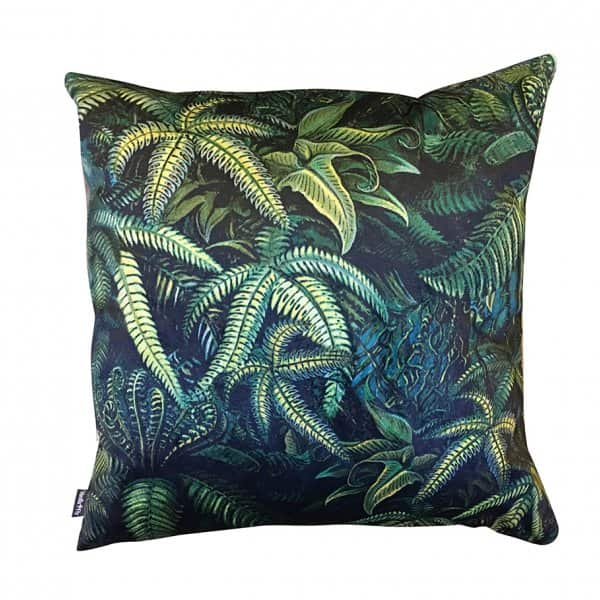 Velvet 'Fern' Cushion, with Duck down filling, by Vanilla Fly