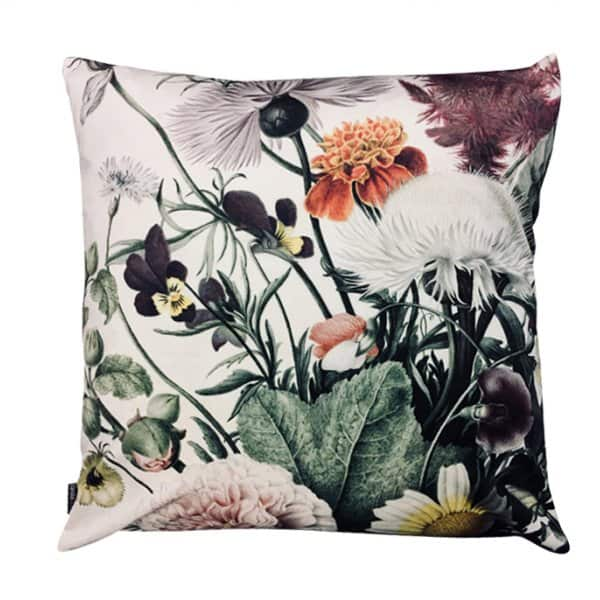 Velvet 'Flora' Cushion, with Duck down filling, by Vanilla Fly of Denmark