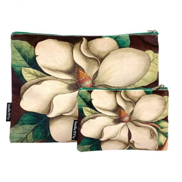 Velvet Makeup Bag & Pouch (set of 2), LA79A. By Vanilla Fly of Denmark