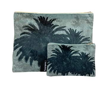 Velvet Makeup Bag & Pouch (set of 2), LA79D. By Vanilla Fly of Denmark
