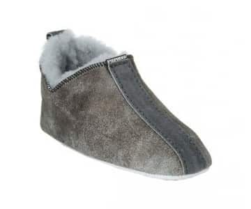 'Viared' 100% Sheepskin Slippers in Antique Grey. By Shepherd of Sweden.