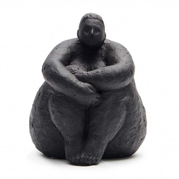 'Vigan' Sculpture, handmade from Cement, and presented in Black. By Abigail Ahern