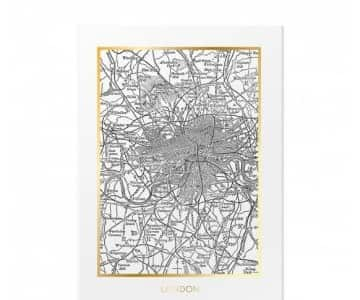 Vintage London print with a Gold trim. By ON Interior of Sweden