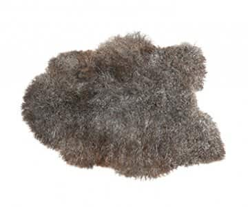 'Visby' - 100% Short-Haired Sheepskin in Grey / Natural. By Shepherd of Sweden