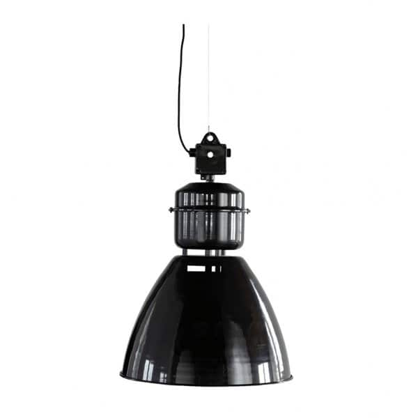'Volumen' hanging Lamp, made from Aluminium & Iron, and presented in Black (L). By House Doctor of Denmark