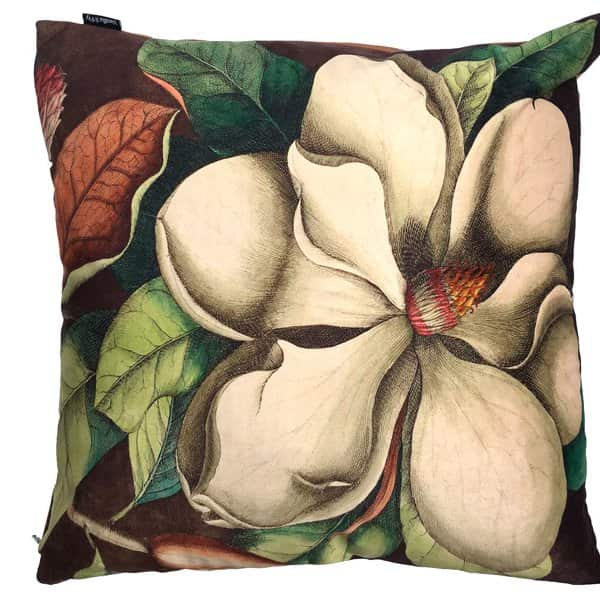 'White Magnolia' Velvet Cushion, with Duck down filling, by Vanilla Fly of Denmark