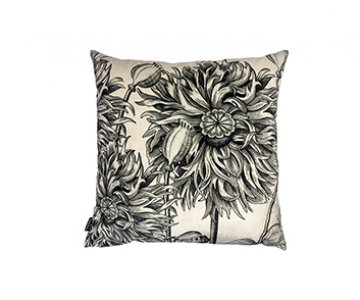 'White Poppy' Velvet Cushion, with Duck down filling (optional), by Vanilla Fly of Denmark