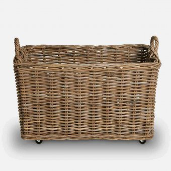 Wicker Trough (S/2), Indonesian Wood, Natural (2 sizes)