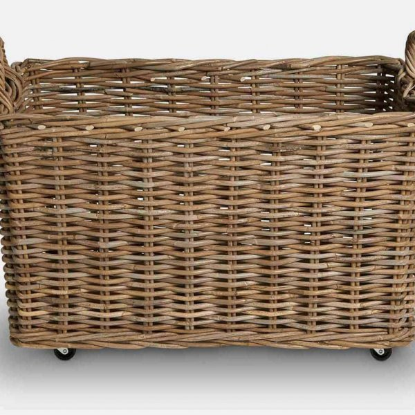 Wicker Trough Set (S/2), made from Indonesian Wood, and presented in Natural (colour). From The Vintage Garden Room
