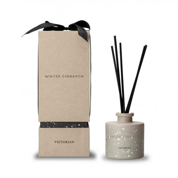 'Winter Cinnamon' Reed Diffuser, with 7 Scent Sticks, finished in Beige. By ON Interiör of Sweden.