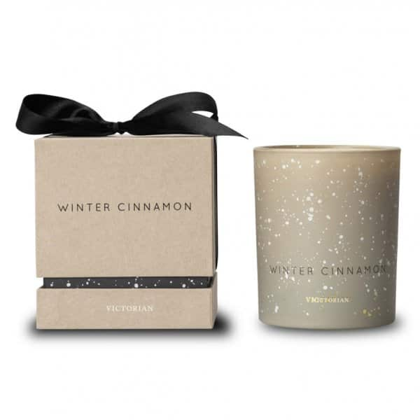 'Winter Cinnamon' scented Candle, made from soy wax, finished in Beige. By ON Interiör of Sweden.