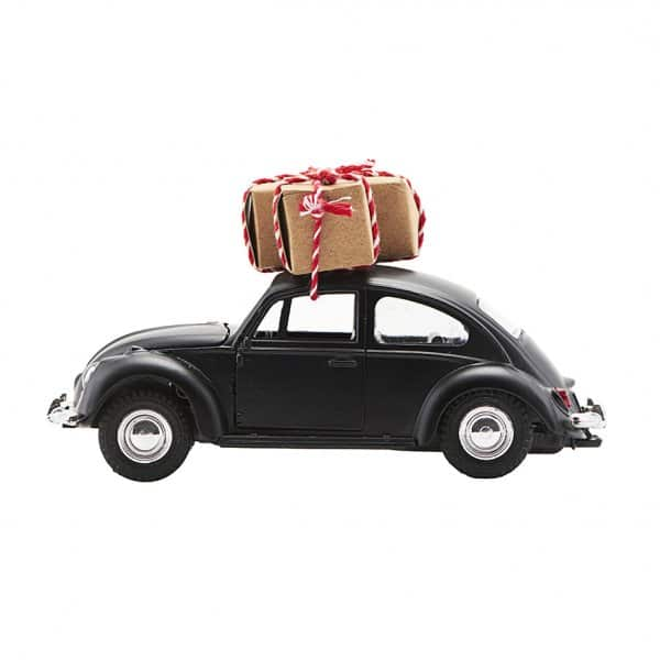 'Xmas Car', in the famous shape of the original VW Beetle, presented in Black. By House Doctor
