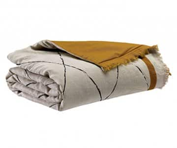 'Zeff Masai' Eiderdown, made from 100% Linen, presented in Bronze. By Vivaraise of France